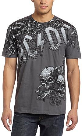 47e7908e8a4 Amazon.com  Liquid Blue Men s Ac dc Night Prowler T-Shirt  Clothing