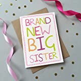 Brand New Big Sister Card Designed by Sarah Catherine Designs