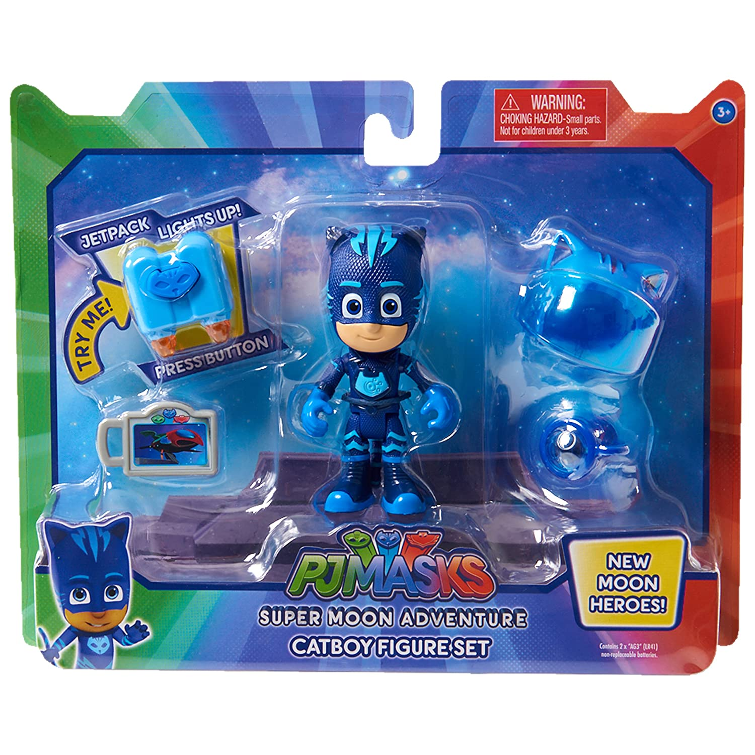 Amazon.com: PJMASKS Super Moon Adventure Figure Set-Catboy, Blue: Toys & Games