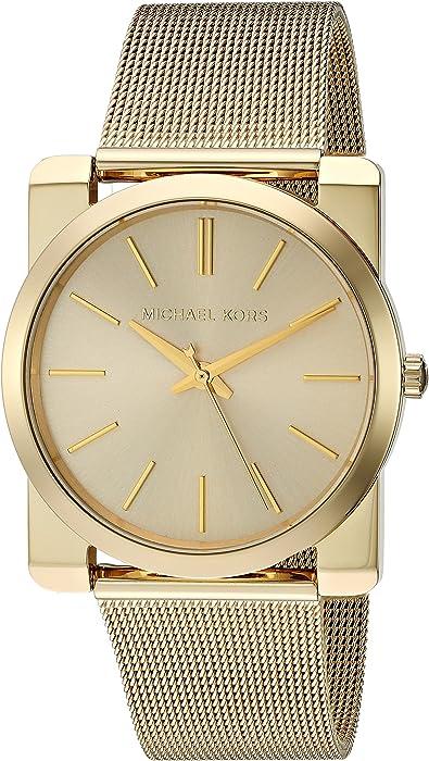 fb821b9b0fff Amazon.com  Michael Kors Women s Kempton Gold-Tone Watch MK3496 ...