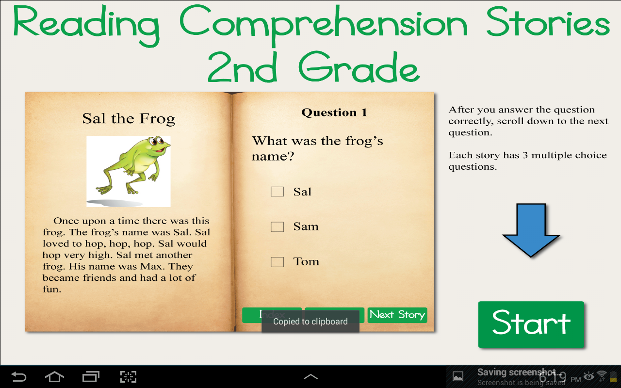 Amazoncom Reading Comprehension Stories 2nd Grade Appstore For