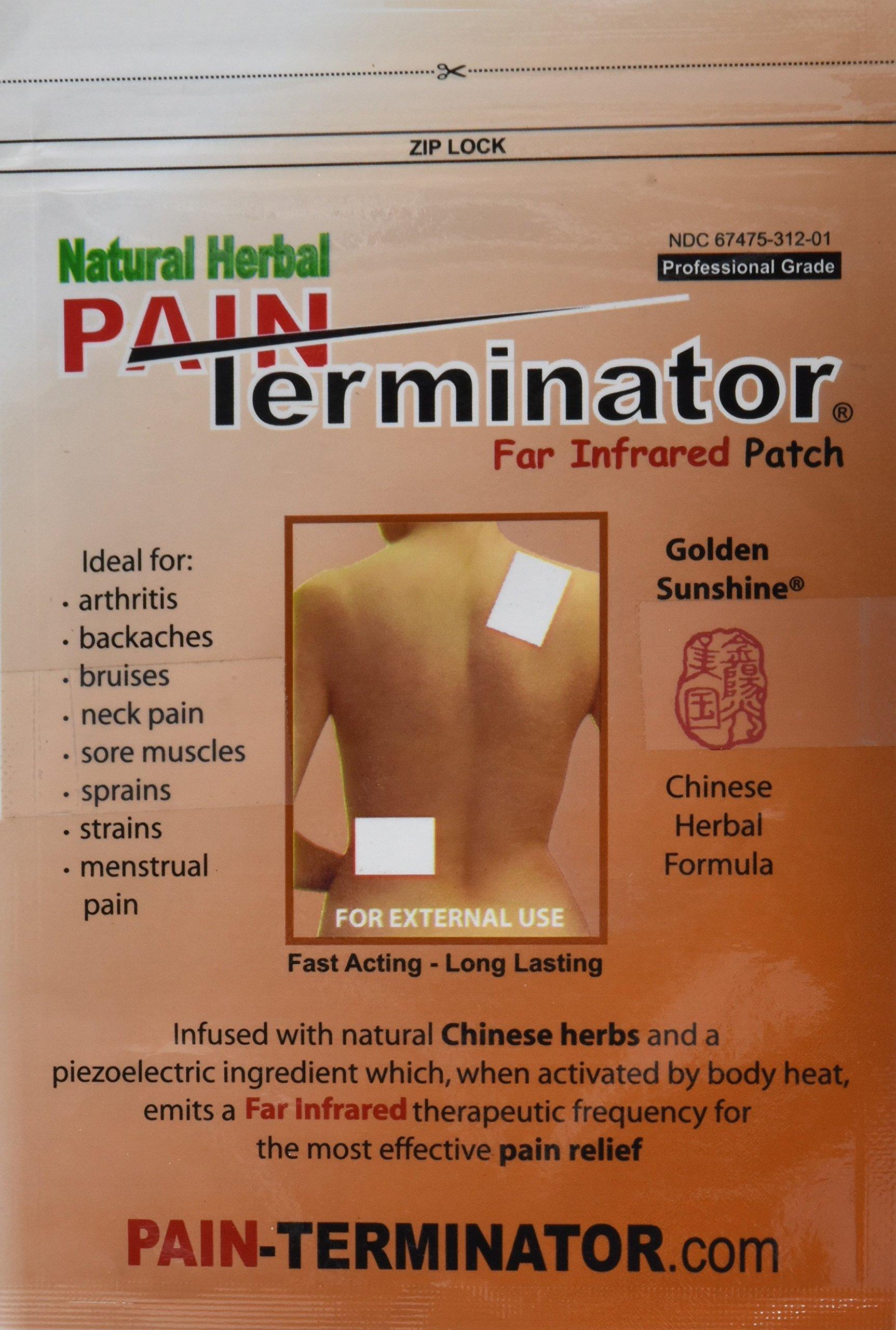 Amazon.com: Golden Sunshine - Pain Terminator Far Infrared Patch - 1 ...