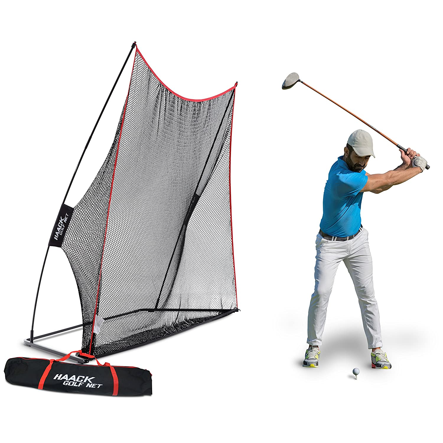 amazon com rukket 10x7ft haack golf net practice driving