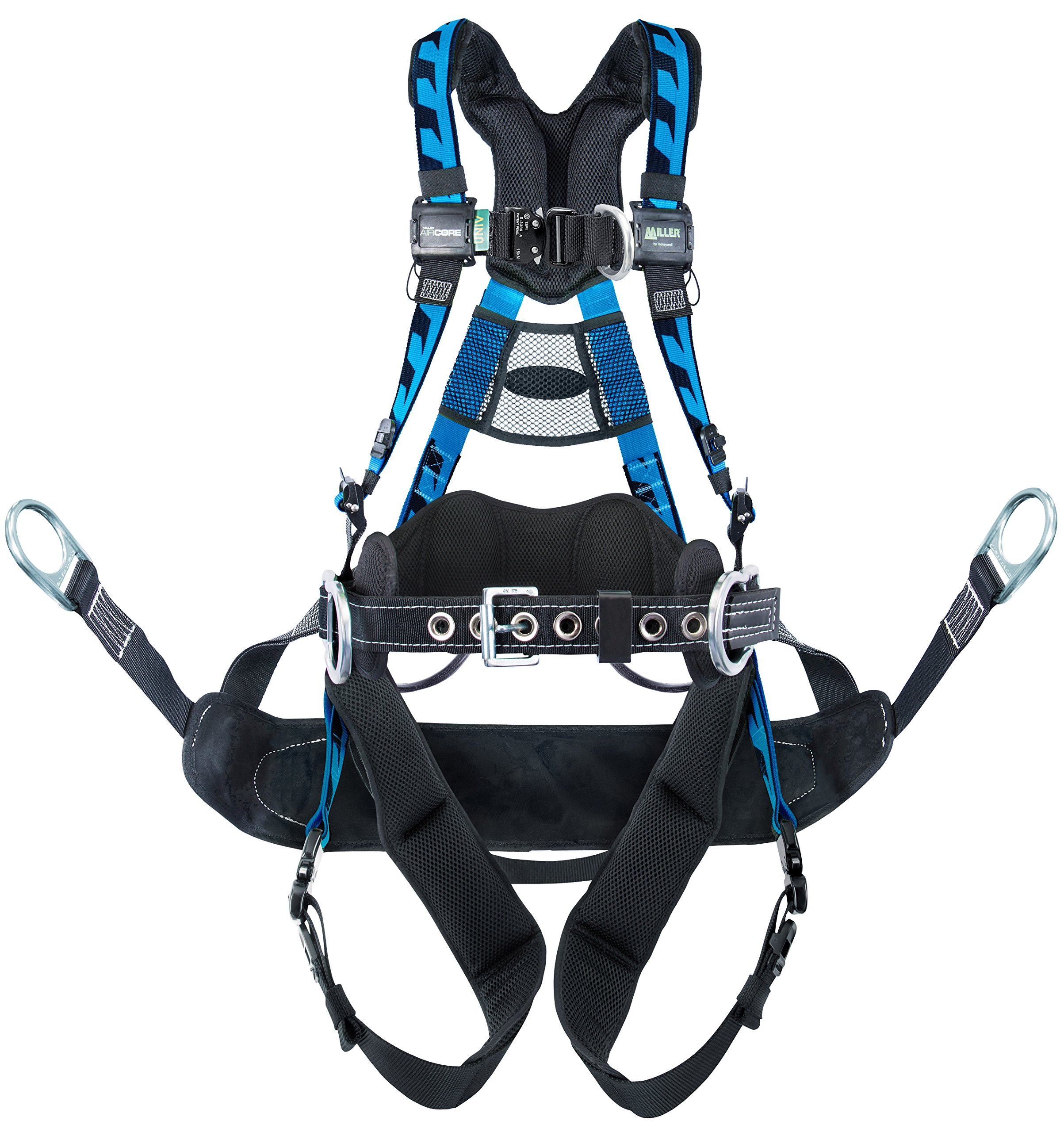 Miller by Honeywell AAT-QCBCUB Aircore Tower Climbing Harness with Aluminum Hardware Quick Connect Chest and Leg Straps by Honeywell
