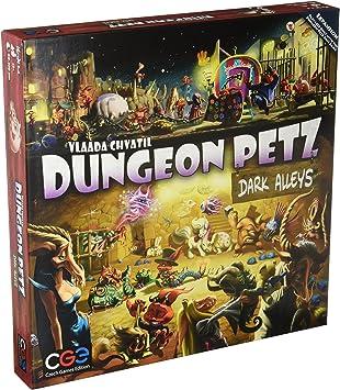 Czech Games Edition CGE00024 - Juego de Mesa Dungeon Petz Dark Alleys: Amazon.es: Juguetes y juegos