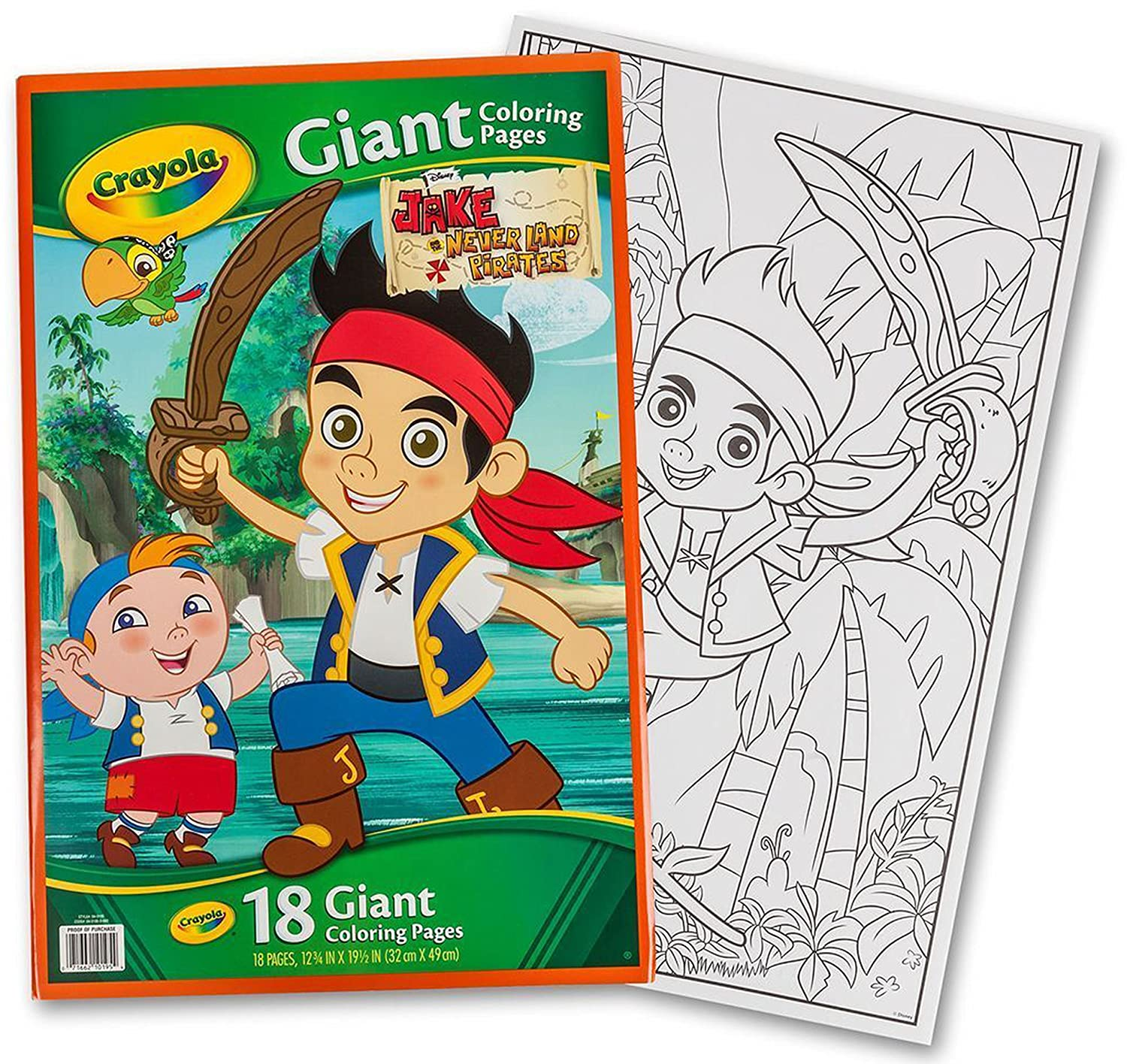 Crayola disney jake the never land pirates giant 18 pages coloring book paper amazon canada