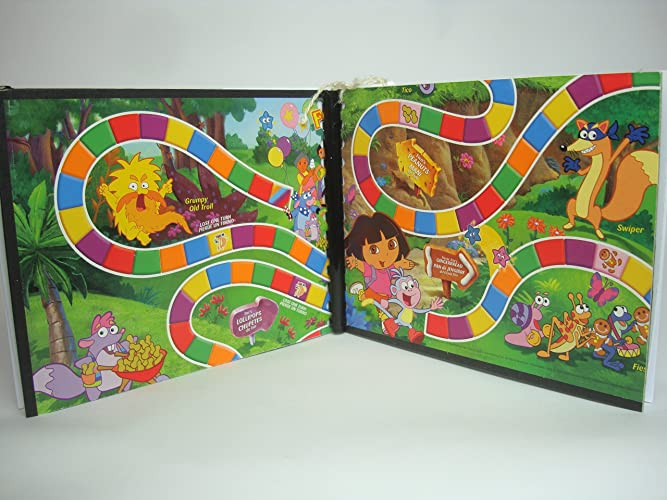 Amazon.com: Candy Land, Dora the Explorer Board Game Writing Journal ...