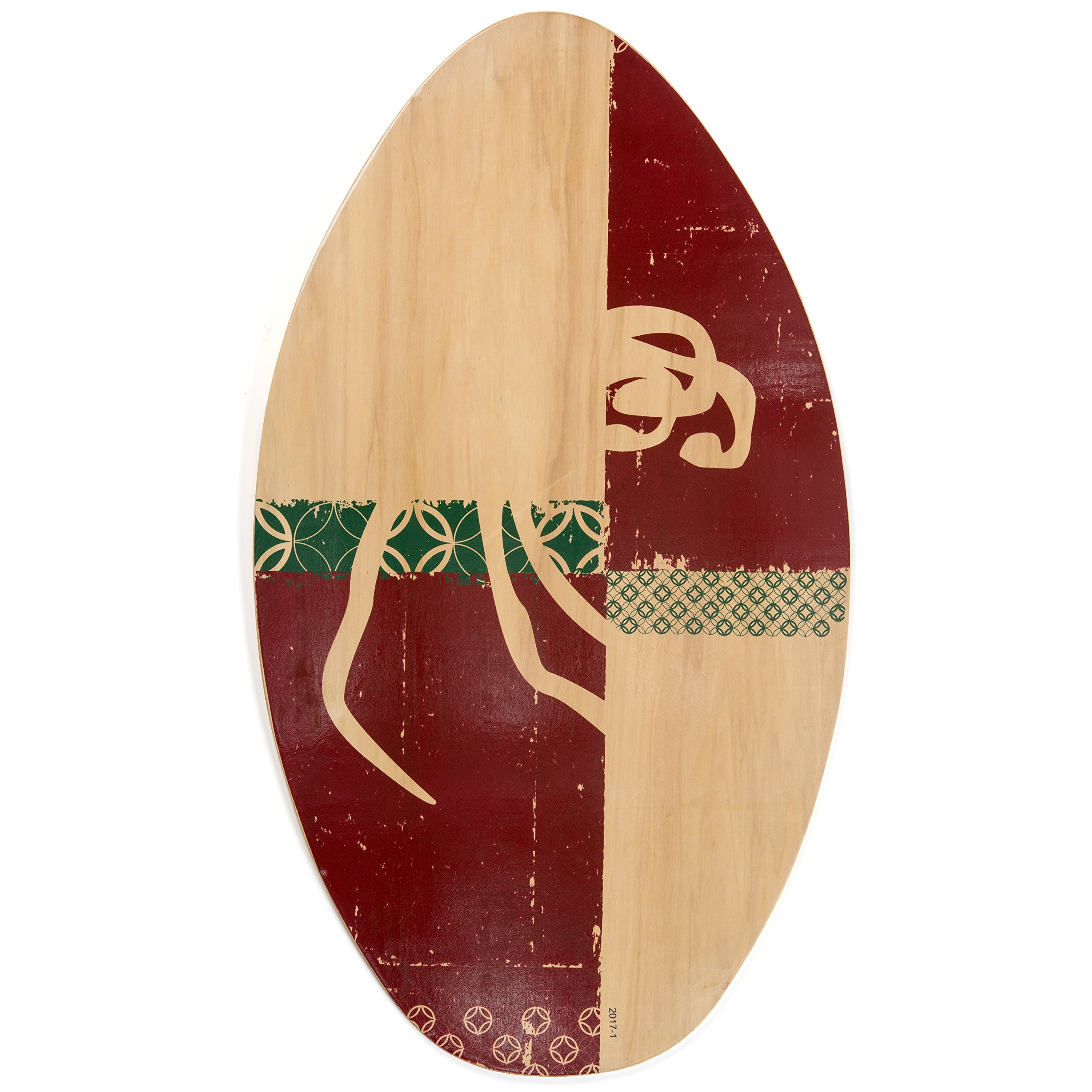 Lucky Bums WA Wood Skim Board, 35-inch