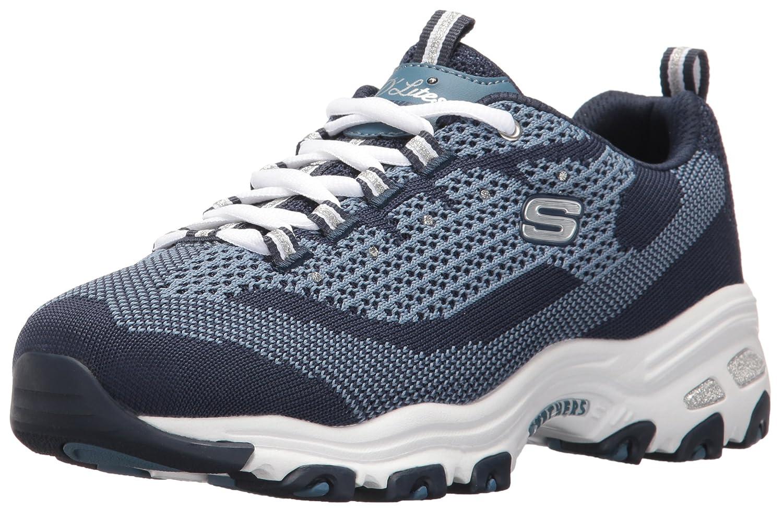Skechers Women's Sport D'Lites Reinvention Sneaker B01IG5H51M 7.5 B(M) US|Navy Knit