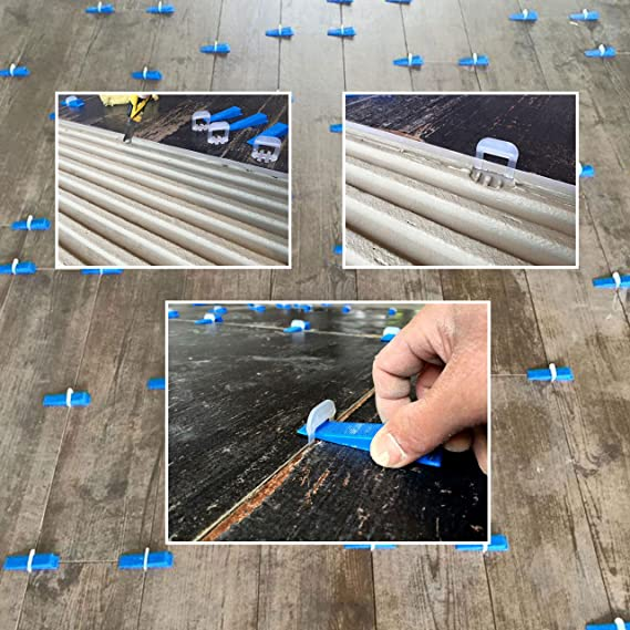 Lantelme 6431 Fugenbreite 2 mm Zuglaschen 100 St/ück Fliesenverlegehilfe Nivelliersystem