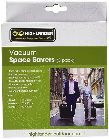 Highlander Vacuum - Funda de compresión para saco de dormir, color transparente