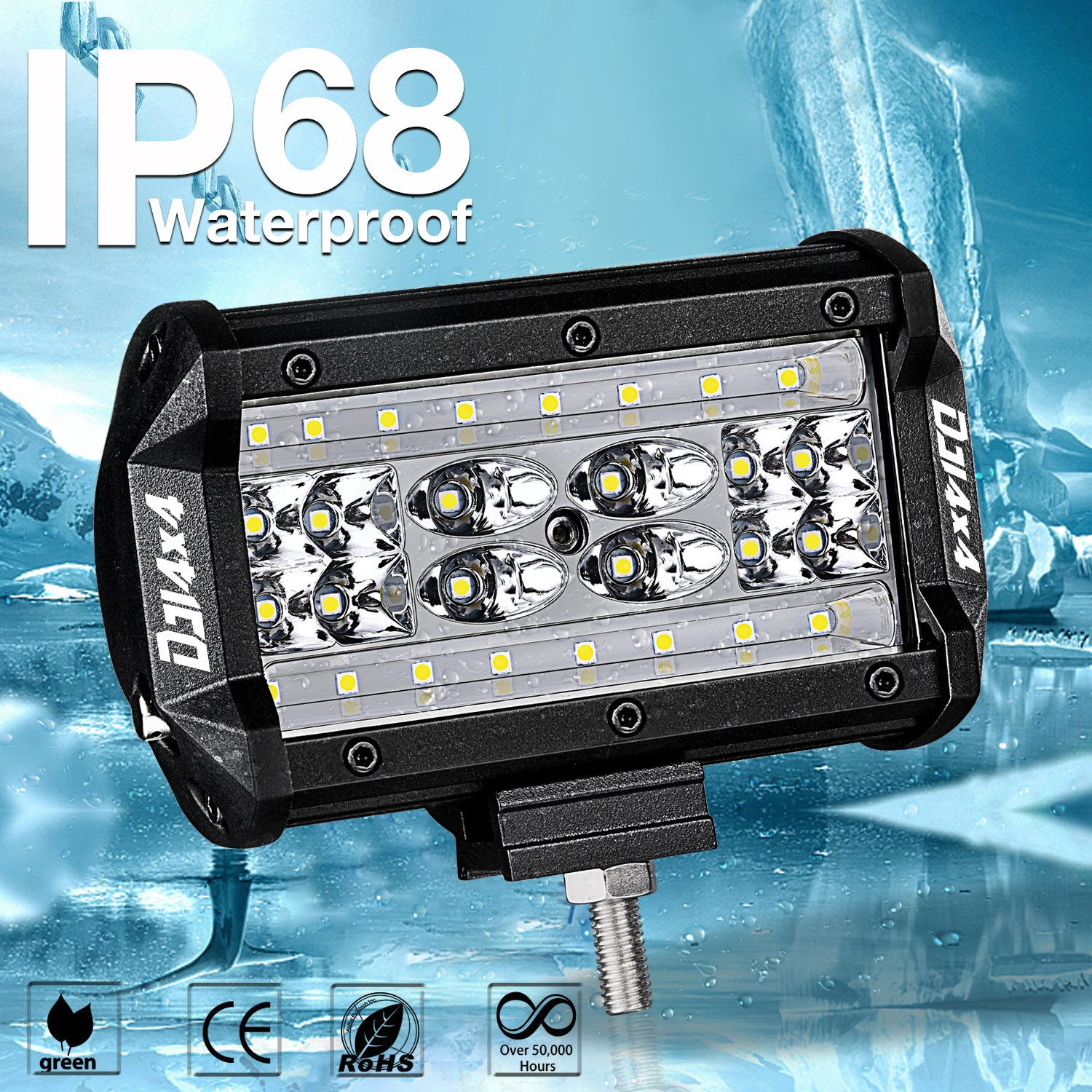 2x 10/'/' 168w Quad Row Led Work Flood Lights Spot Driving Bright Bulb Car Truck