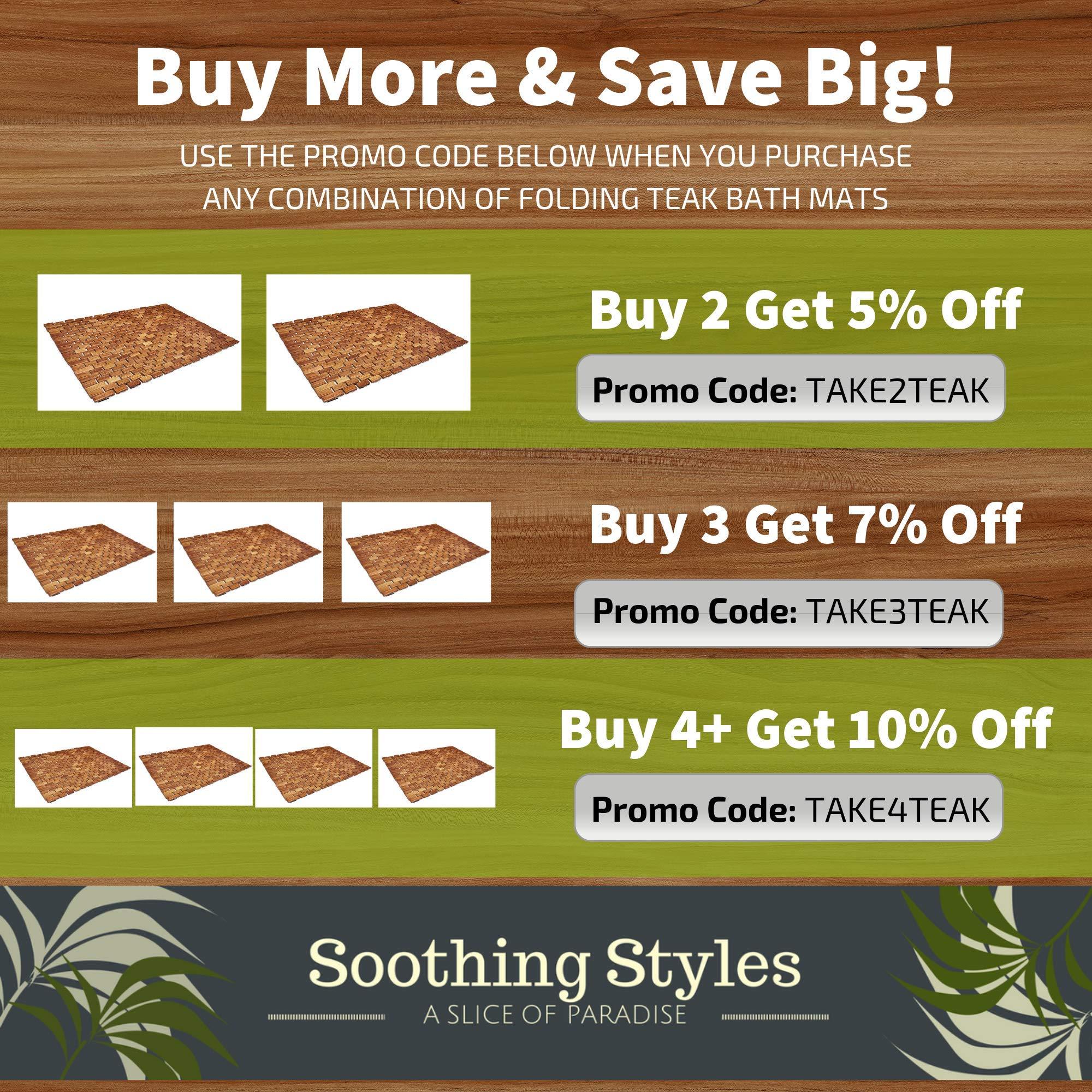 Amazon com: Soothing Styles: Teak Bath Mats