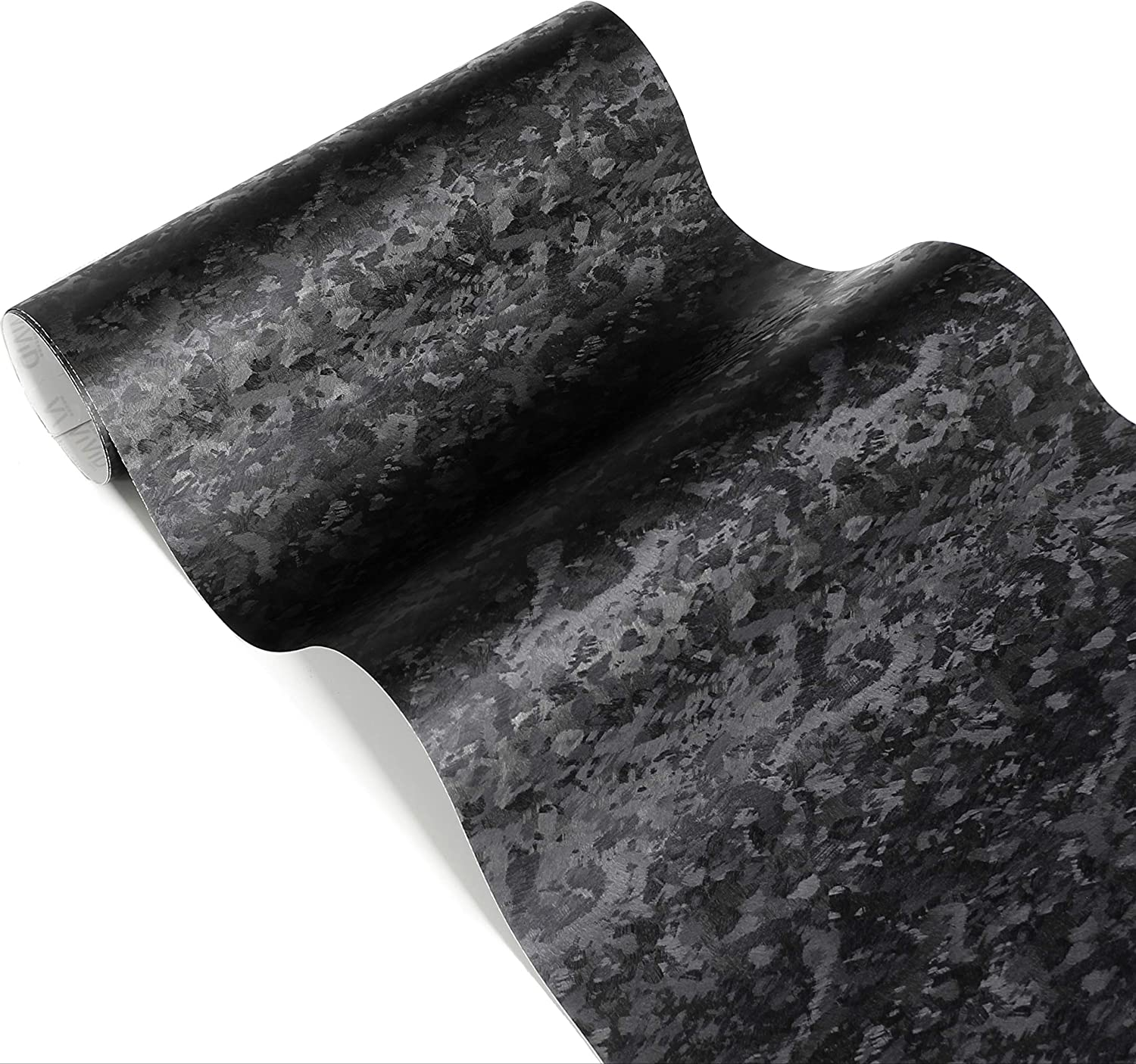 VViViD Black Forged Carbon Fiber Vinyl Wrap Roll with Air Release Technology (1/2 Foot by 5 Foot)
