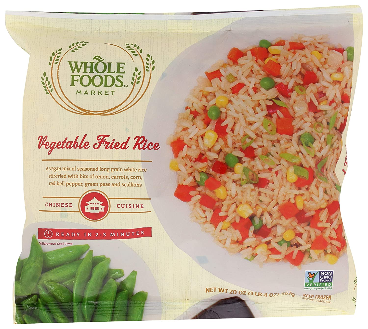365 by Whole Food Market, Frozen Entrees, Vegetable Fried Rice, 20 Ounce
