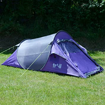 Trail SS 2 Man Pop Up Tent Quick Pitch Festival C&ing Waterproof 1500mm HH & Trail SS 2 Man Pop Up Tent Quick Pitch Festival Camping Waterproof ...