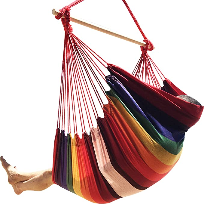 Hammock Sky Large Brazilian Hammock Chair Cotton Weave – Best for Sturdiness