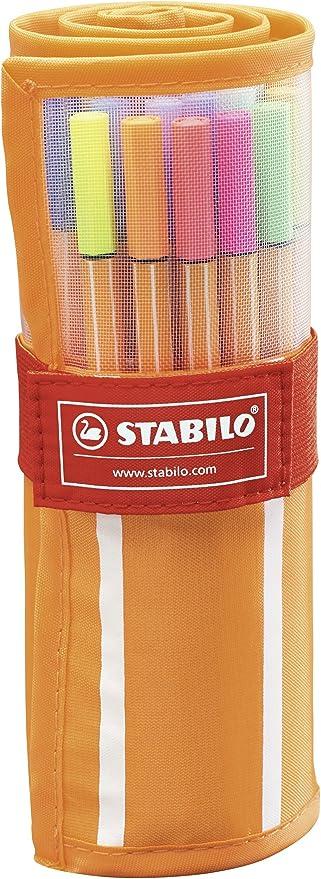 30-Color Rollercase Set 0.4 mm Stabilo Point 88 Fineliner Pens