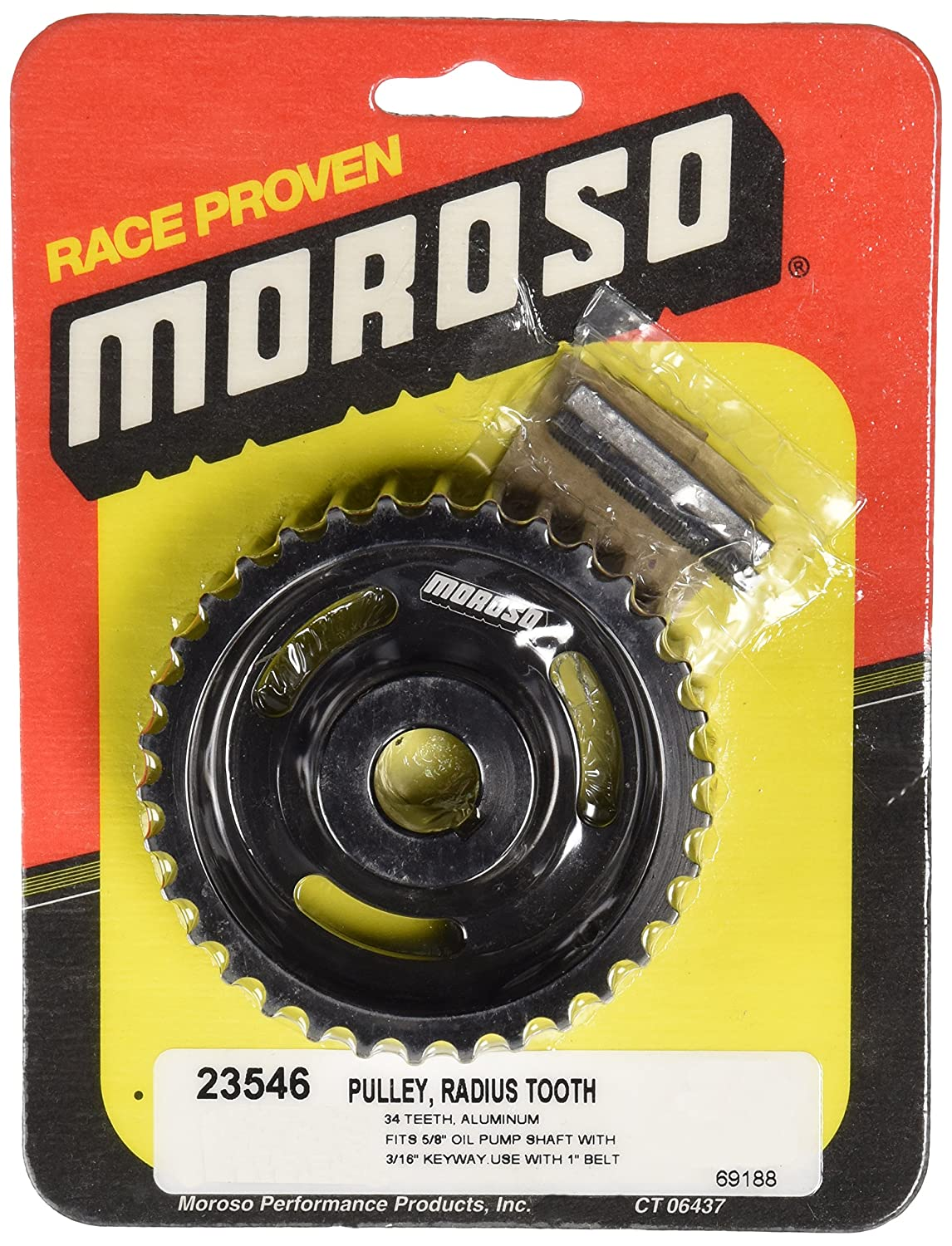 Moroso 23546 34 Tooth Dry Sump Oil Pump Pulley