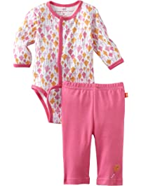 Magnificent Baby Girl's Kites Burrito Onsie and Pants Set, Kites,1-Pack