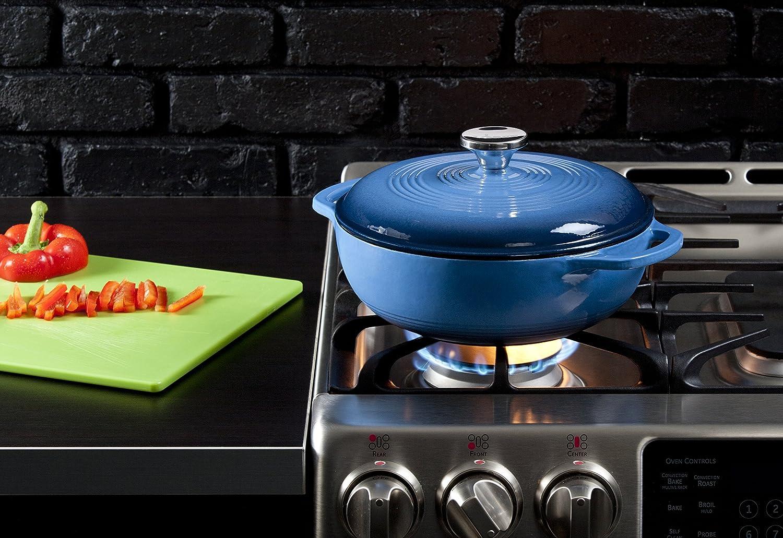 Lodge EC3D33 Color 3-Quart Dutch Oven Caribbean Blue