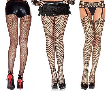 d236ebaf6 Amazon.com  Music Legs Fishnet Styles Pack (3 pc) - Backseam Fishnet ...