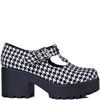 537fcfc0fd1 Spylovebuy CATTIE Block Heel Cleated Sole Buckle Platform Ankle Boots   Amazon.co.uk  Shoes   Bags