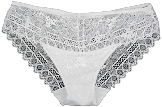 353d9f8c89619 Fairy Wings Pretty White All Over Stretch Lace High Leg Knickers Size 8