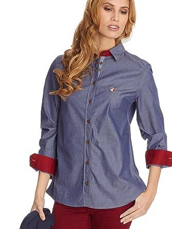 POLO CLUB Camisa Mujer Azul ES 46: Amazon.es: Ropa y accesorios