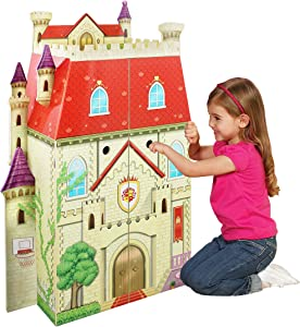 Teamson Kids - Fancy Castle Doll House with 5pcs Furniture