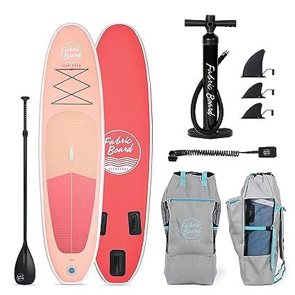 FabricBoard 10 Tabla de Paddle Surf Hinchable 305x77x15cm, Tecnología Fusion Doble Capa 9.98 kg (20% más Ligera), Accesorios Incluidos