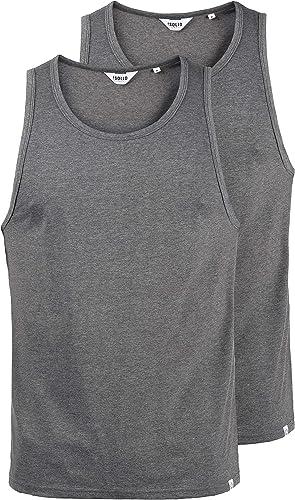 !Solid Masil Camiseta Básica De Tirantes Tanque Tank Top con Cuello Redondo De 100% algodón: Amazon.es: Ropa y accesorios