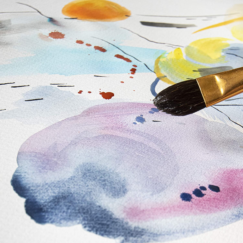 Ideale per la Pittura ad Acquerello 12 fogli Perfetto per Principianti e Professionisti MONT MARTE Carta Acquerello A3-300 gsm Blocco Acquerello Premium