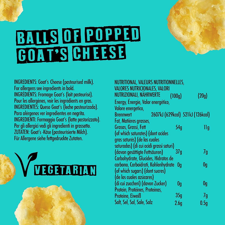Cheesies - Snack de Queso Crujiente, Queso de Cabra. Sin Carbohidratos, Alto en Proteínas, Sin Gluten, Vegetariano, Ceto. queso de cabra 12 Bolsas de ...
