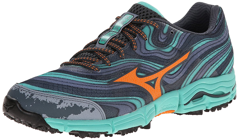 Mizuno Women's Wave Kazan Trail Running Shoe B00KTEZ8HC 9 M US|Turbulence/Orange Popsicle