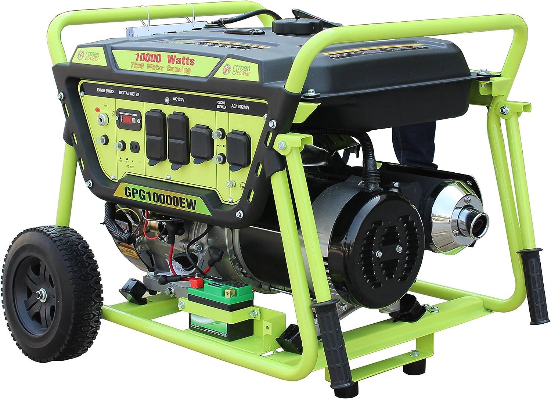 Green-Power America GPG10000EW 10000W Pro Series Recoil Electric Start Generator
