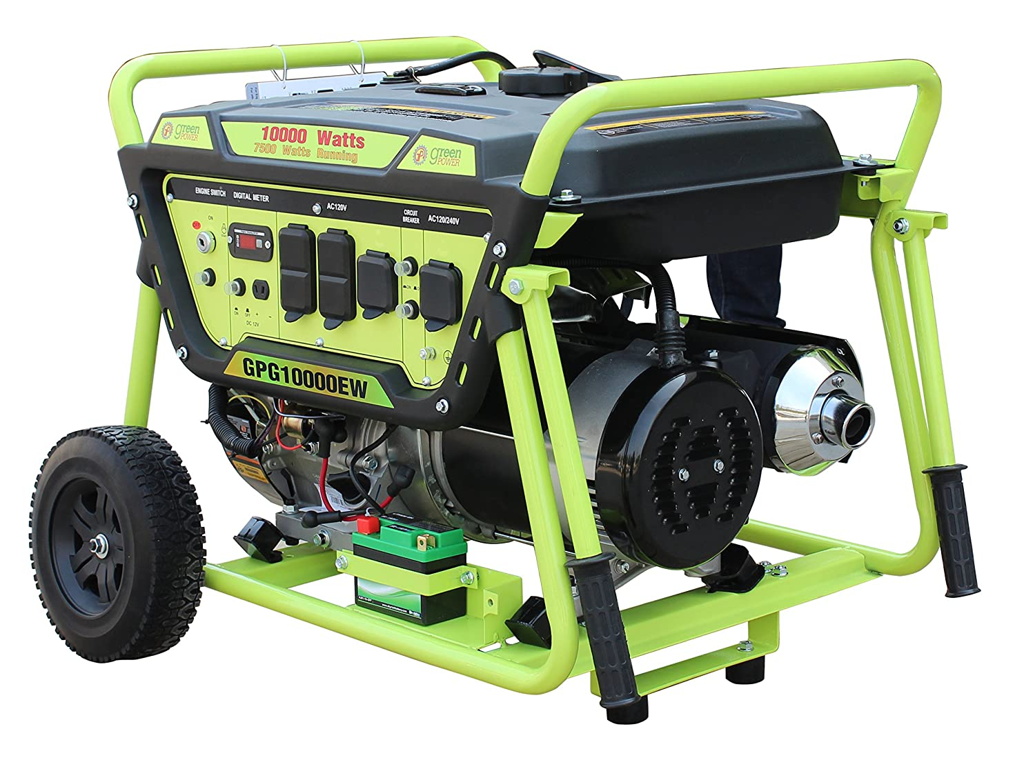 Green-Power America GPG10000EW 10000W Pro Series Recoil Electric Start Generator