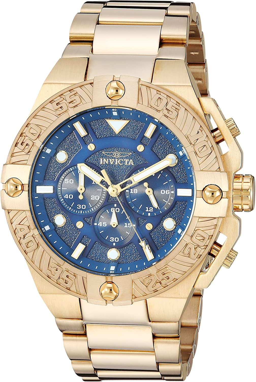 Invicta Men s Pro Diver Quartz Watch with Stainless-Steel Strap, Gold, 27 Model 25829