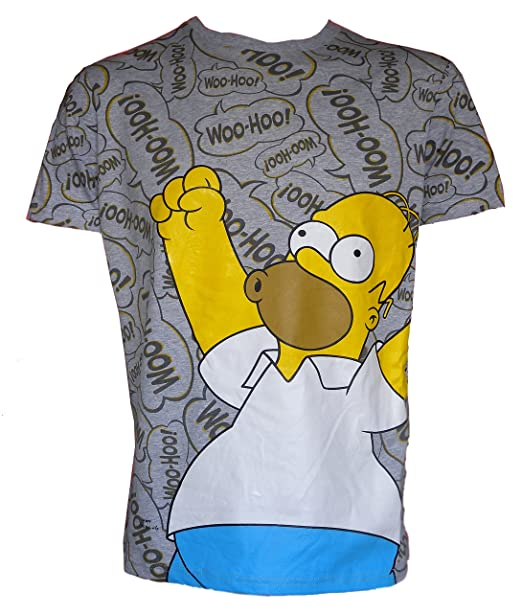 u-wear Camiseta & Calcetines Para Hombre Homer Simpson Woohoo.!!! nM9Jt7