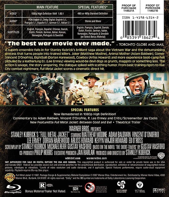 Amazon in: Buy FULL METAL JACKET:DELUXE EDITION DVD, Blu-ray