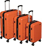 AmazonBasics Set of 3 (55 cm + 68 cm + 78 cm) Burnt Orange Hardsided Trolley