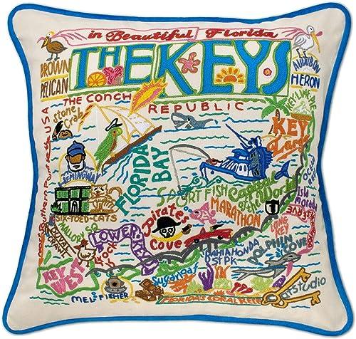 Catstudio Florida Keys Embroidered Decorative Throw Pillow