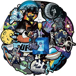 80Pcs Astronaut Stickers for Boy, Space Stickers for Boy, Laptop Vinyl Stickers for Adult, Waterproof Water Bottle Stickers for Kids Teens Decal for Phone Case