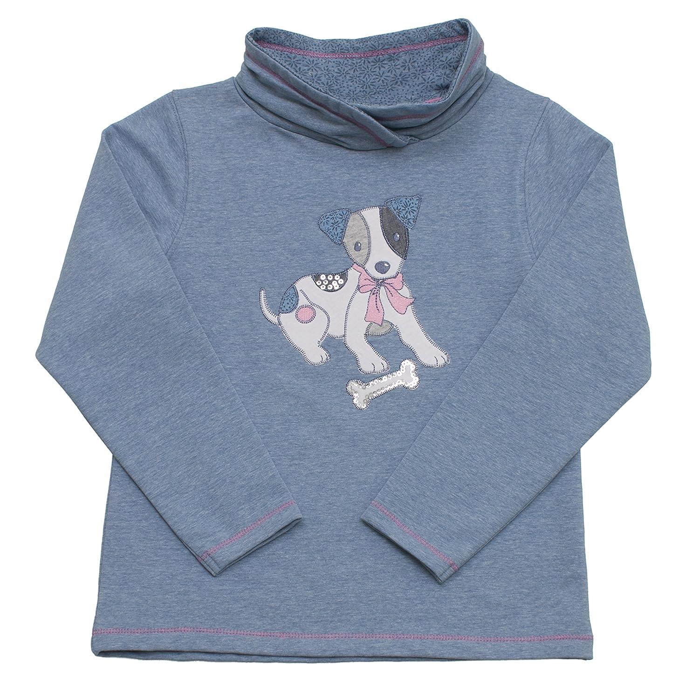 Salt & Pepper Sweat Cats & Dogs Hund, Felpa Bambina Blu (Dark Indigo Melange) 65111231