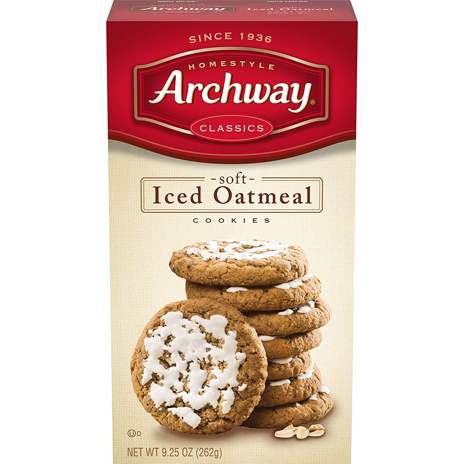 Amazon Com Archway Cookies Iced Oatmeal Soft Cookies 9 25 Ounce Pack Of 9 Grocery Gourmet Food