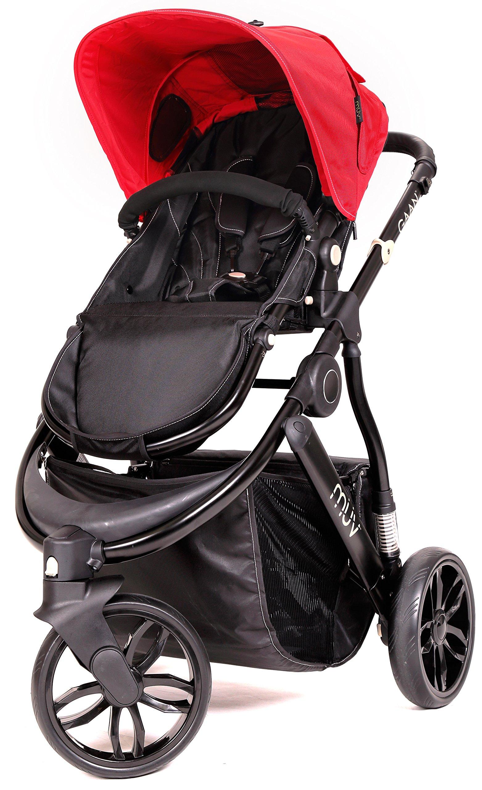 Muv Baby Trend Gaan Stroller, Satin Black/Cabernet