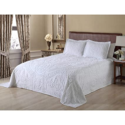Old Fashioned Cotton Bedspreads.Amazon Com Misc Oversized White Chenille Bedspread King