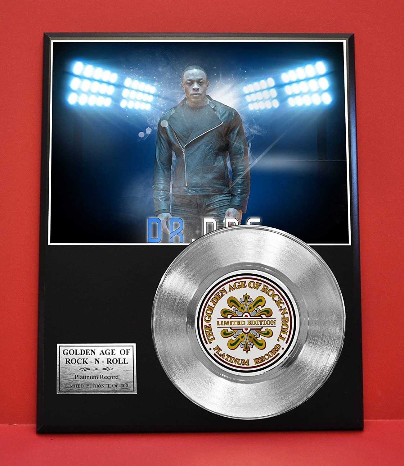 Dr Dre Limited Edition Platinum Record Display - Award Quality Plaque - Music Memorabilia - Gold Record Outlet
