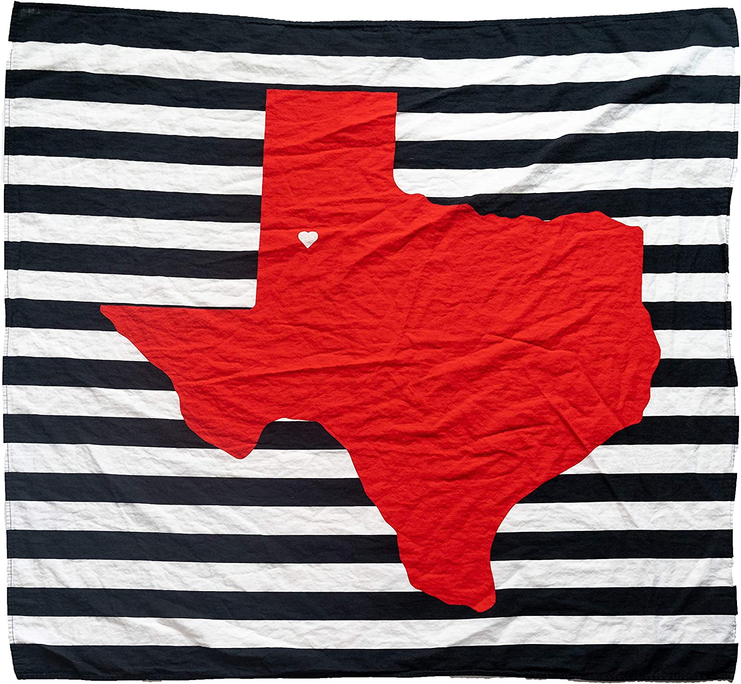 "Organic Cotton Muslin Swaddle Blanket - Lubbock Fans of Texas Tech Baby Blanket - 47"" x 43"" - Fans of Texas Tech Baby Gift - Soft Muslin Baby Blanket for Boys and Girls"