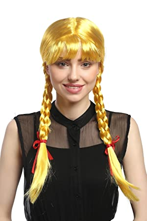 WIG ME UP ® - XR-008-PC2B Peluca Mujeres Carnaval Cosplay Larga Trenzas